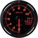Defi Racer Gauge 排気温度計 52φ,アンバーレッドモデル